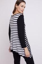 Roz & Ali Contrast Stripe Sweater - 8