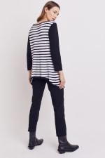 Roz & Ali Contrast Stripe Sweater - 12