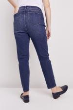 Plus Westport Incrediflex Denim Fit Solution 5 Pocket Skinny Jean - Plus - Dark Wash - Back