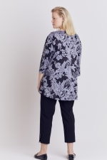 Paisley Keyhole Fit and Flare Knit Top - Plus - 5