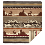 Ultra Soft Mountainside Lodge Handmade Woven Blanket - 1