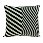 White and Black Pillow Cover With Down Insert - 1
