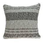 Square Gray Regatta Stripe Accent Pillow Cover - 2