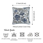 """Set of 2 17"""" Jacquard Weaver Throw Pillow Cover in Blue - 4"""