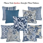 """Set of 2 17"""" Jacquard Weaver Throw Pillow Cover in Blue - 5"""