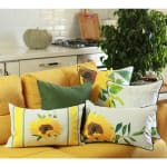 """Set of 4 18"""" Autumn Vibes Throw Pillow Cover in Multicolor - 4"""