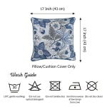 """Set of 4 17"""" Forest Sky Jacquard Throw Pillow Cover in Blue - 4"""