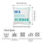 "Set of 2 18"" Sea Shine Summer Throw Pillow Cover in Multicolor - 4"