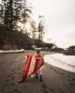 Ultra Soft Southwestern Red Hot Handmade Woven Blanket - 6