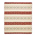 Ultra Soft Southwestern Red Hot Handmade Woven Blanket - 2