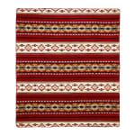 Ultra Soft Southwestern Red Hot Handmade Woven Blanket - 1