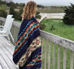 Ultra Soft Southwestern Rainbow Handmade Woven Blanket - 5