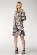 Multi Split Neck Fluted Sleeves Tunic Dress - 3