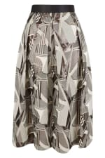 CLOSET GOLD Metallic Jacquard Pleated Midi Skirt - 4