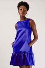 Closet Blue Royal Panelled V-Back Dress - 3