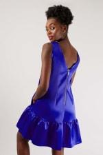 Closet Blue Royal Panelled V-Back Dress - 2