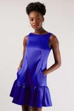 Closet Blue Royal Panelled V-Back Dress - 1