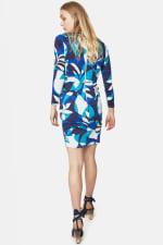 Closet Printed Long Sleeve Wrap Jersey Dress - 2