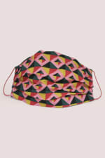 Pink Printed Fabric Face Mask - 1