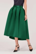 Green High Low Skirt - 1
