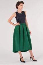 Green High Low Skirt - 3