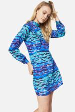 Closet Printed High Collar Dress - 4