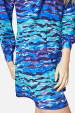 Closet Printed High Collar Dress - 3