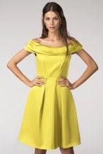Yellow Closet Gold Off the Shoulder Dress - 3