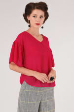 Pink Frill Sleeve Top - 1
