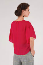 Pink Frill Sleeve Top - 2