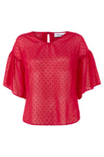 Pink Frill Sleeve Top - 4