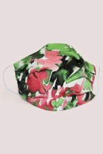 Green And Pink Double Layer Fabric Face Mask - 1
