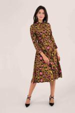 Leopard Print Midi Shirt Dress - 3