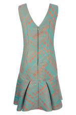 Closet Gold Turquoise Flared Hem Dress - 2