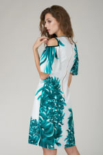 Multi Cut Out Ruffle Sleeve A Line Dress - 2