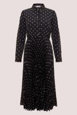 Black Pleated Shirt Dress - 5