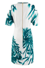 Multi Cut Out Ruffle Sleeve A Line Dress - 5