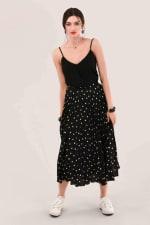 Black Pleated Skirt - 3