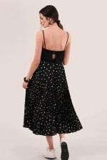 Black Pleated Skirt - 2