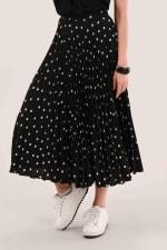 Black Pleated Skirt - 1