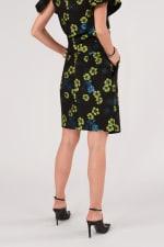 Black Floral Pencil Skirt - 2