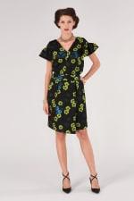 Black Floral Pencil Skirt - 3