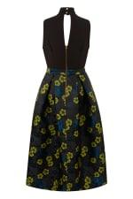 Closet Gold Lime Floral Full Skirt 2 in 1 Dress - 4