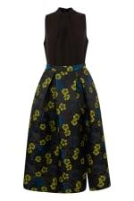 Closet Gold Lime Floral Full Skirt 2 in 1 Dress - 3