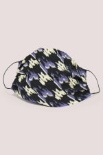 Black And Purple Double Layer Fabric Face Mask - 1