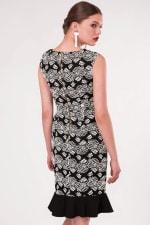 Black Pep - Hem Pencil Dress - 2