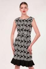 Black Pep - Hem Pencil Dress - 3
