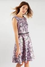 Closet Gold Lilac Belted Skater Dress - 1