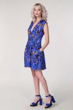 Blue Drop Waist Wrap Dress - 2