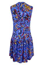 Blue Drop Waist Wrap Dress - 6